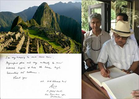 Jusuf Kalla Indonesian vice president marveled at his visit to Machu Picchu