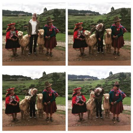 """Mercedes Mason, star of """"The Walking Dead Fear"""" became a tasty Christmas in Cusco"""