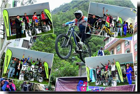 It was successful and spectacular II Cycling Competition Urbant Down Hill in Machu Picchu